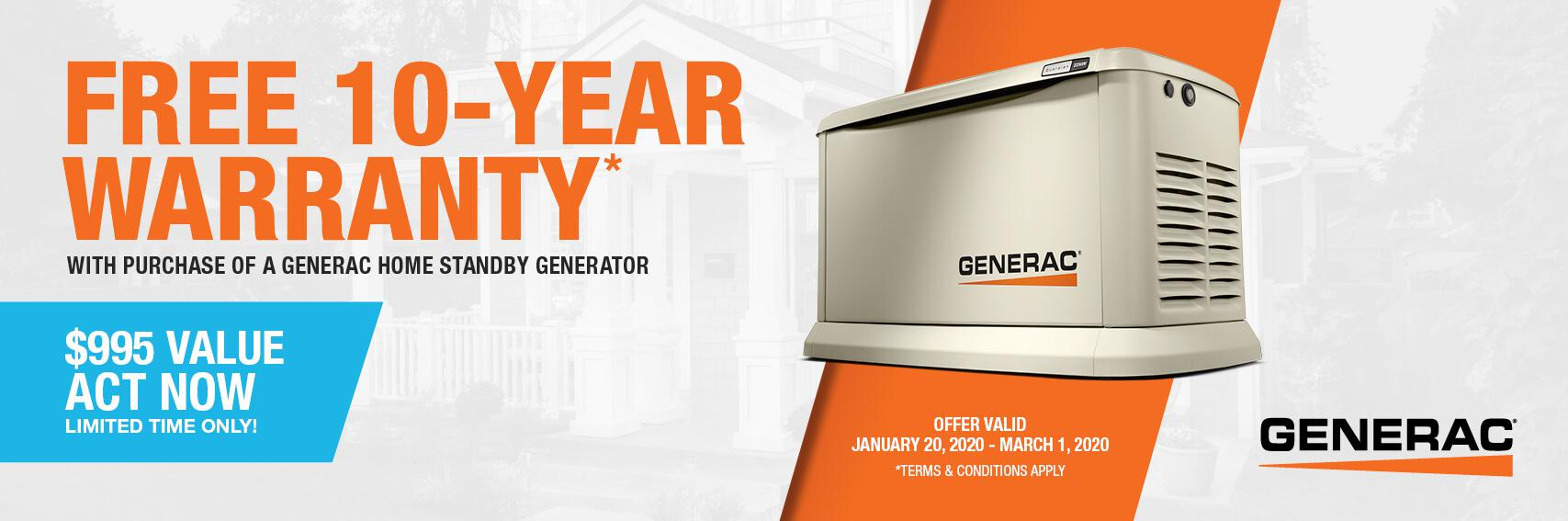 Homestandby Generator Deal | Warranty Offer | Generac Dealer | Findlay, OH